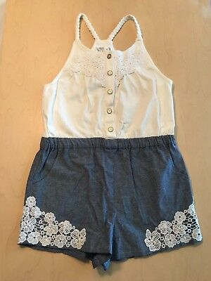 NEW Girls Sleeveless Romper by aphOrism Braided Straps Size 8