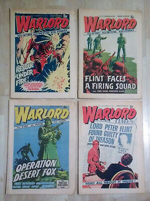 4 x issues WARLORD comic No. 9, 10, 11, 12 (Nov-Dec 1974) complete British boys