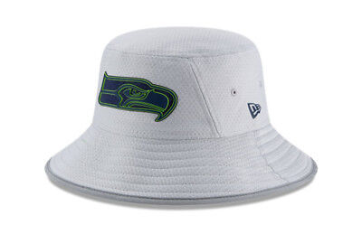 Seattle Seahawks New Era NFL 2018 Training Camp Sideline Bucket Hat - Gray d8a97199ac12