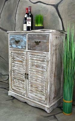 kommode schrank mit 8 schubladen bunt landhaus shabby chic vintage wei lv1008 eur 89 99. Black Bedroom Furniture Sets. Home Design Ideas