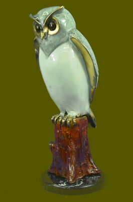 Bronze Owl in Art Deco style by Marius. Fine limited edition sculpture Hand Made