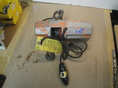 Duff Lynx 1/4 Ton Electric Hoist Cable 500 lbs EMW-500-AC  1b