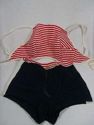 VINTAGE WOMENS SWIMSUIT SIZE 36/14 Red White Blue Patriotic