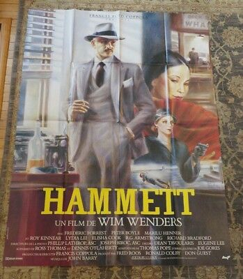 HAMMETT,  French Grande size poster 47 x 63 inches, folded, Wenders, Guy Peelart