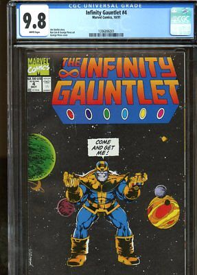 Infinity Gauntlet #4 (1991) No. 4 Cgc 9.8 White Pages Marvel Comics 1991
