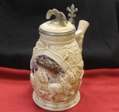 """2002 Avon Lidded Beer Stein """"World Famous Clydesdales Hitch Stein"""" ~ NO BOX"""