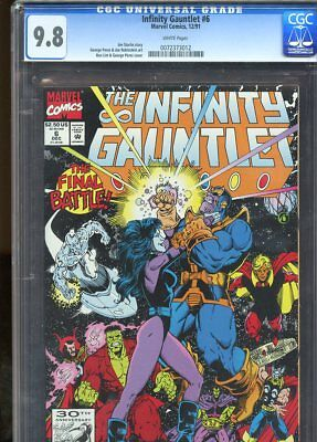Infinity Gauntlet #6 (1991) No 6 Cgc 9.8 White Pages Marvel Comics 1991