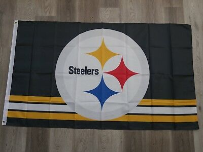 NFL PITTSBURGH STEELERS Team FLAG / BANNER 3 x 5 Feet - FREE SHIPPING FROM USA