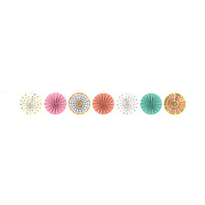 6 PASTEL GLITTER BUTTERFLY FAN DECORATIONS ~ Birthday Party Supplies Spring