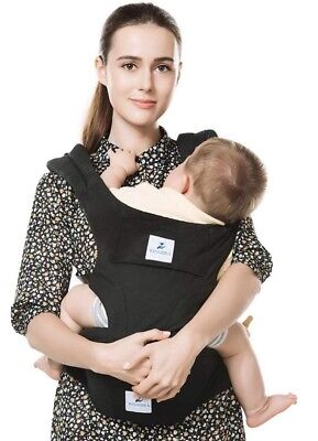 Kinmbra New Design Baby Carrier with Hip seat for infant & Toddlers (Black)
