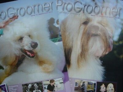 The Pro Groomer Dog Grooming Magazine (x2) Professional Show Breeder Toy Poodle
