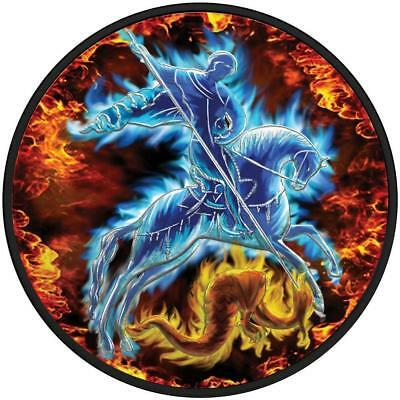 Russia 2009 3 Rubles St. George Fire & Ice 1oz Silver Coin