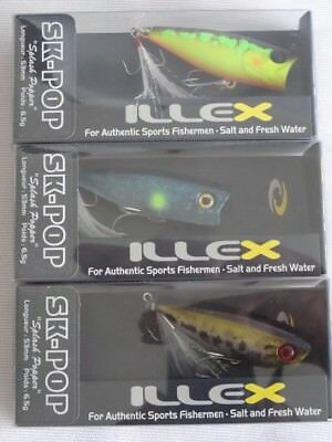 Illex SK Pop 53 - 3er Set - Set 2 - Popper Wobbler Set