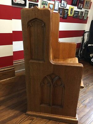 "Beautiful Antique Church Pew - Oak - 36"" Wide - Pastor's Seat"