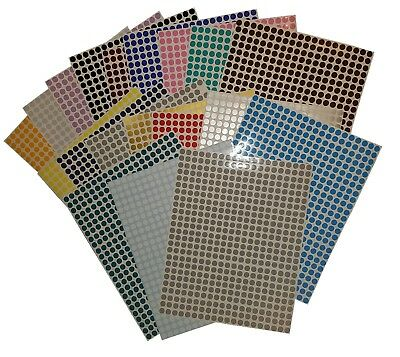 500 x Coloured Dots Stickers, 6mm Diameter Good For Colour Coding etc Waterproof