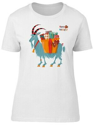Yule Goat With A Gift Basket Women's Tee -Image by Shutterstock