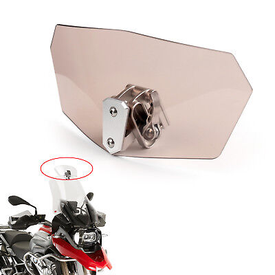 Universal Motorcycle motobike Windshield Windscreen Smoke Spoiler Shield UK