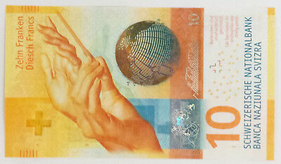 ***One Swiss Switzerland New Design 10 Francs Uncirculated Banknote Currency***