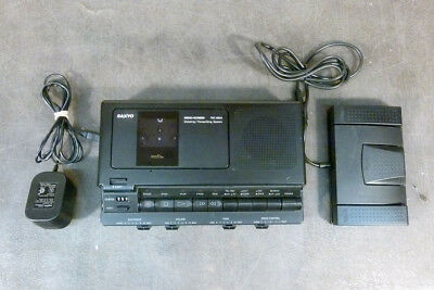 Sanyo TRC-8800 Transcriber Cassette Recorder with Foot Pedal     (3b06)