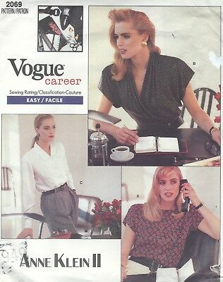 Vogue 2069 Misses' Blouses   Sewing Pattern