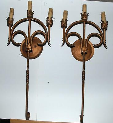 Antique Wrought Iron Wall Sconces