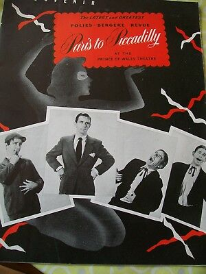 Folies-Bergere Revue Paris to Piccadilly Prince of Wales 1950 Norman Wisdom