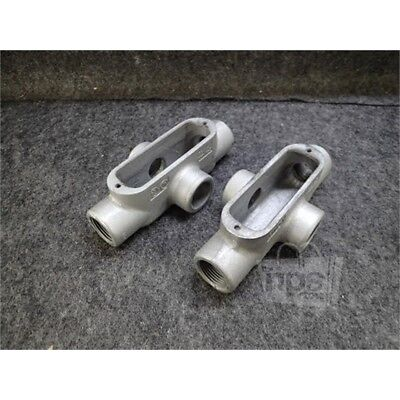 "Lot of 2 Eaton X38 Crouse-Hinds Conduit Body, 1"", Form 8, Iron"