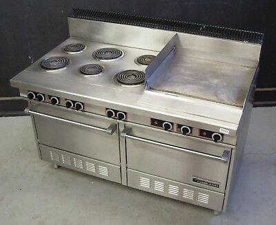 Garland S684 24r Commercial Electric Range 60 W 6 Burners 2 Ovens