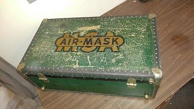 Vintage MSA AIR-MASK Carry Storage Case Trunk Tote Scuba Firefighting Safety