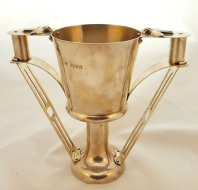British Arts & Crafts Sterling Silver Cup with Birds - S Blanckensee- Chester
