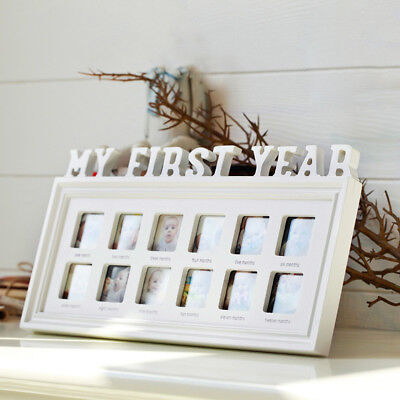 My First Year 12 Photoes Frame Baby's First Birthday Christening Creative  Gift