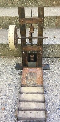 Amazing Scale Model Salesman's Size California Gold Rush Working Stamp Mill