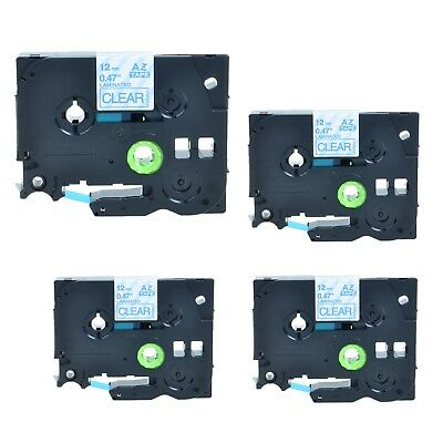 4Pack TZe133 Blue on Clear Label Tape TZ133 for Brother P-touch PT1280 PT2730