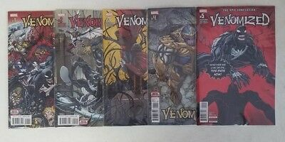 Venomized #1-5 2 3 4 MARVEL Comics NM Main Cover Complete Set Lot Run