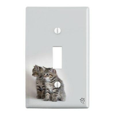 Domestic Shorthair Cats Mirror Image Wall Light Switch Plate Cover