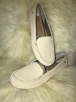 eae0349517b UGG Australia Milana Water Resistant Cream Leather Loafer Flats 1096572  8  NIB