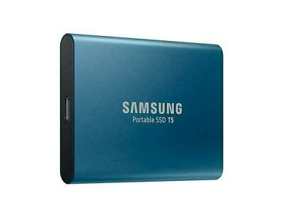 "Samsung T5 500GB 2.5"" USB-C Portable External SSD Solid Drive Storage Blue"