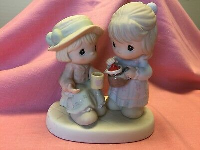 """Precious Moments 2002 Figurine """"Grounds for a Great Friendship""""  Sam B #108536"""
