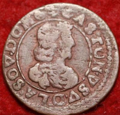 1642 France Double Tournois Foreign Coin
