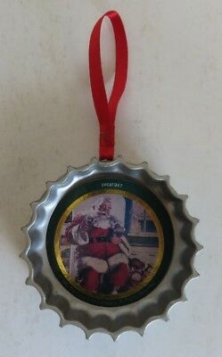 Coca-Cola Bottle Cap Santa Christmas Ornament               (Inv18312)