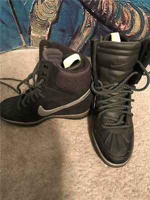 designer fashion 84be9 9f441 Nike Women Dunk Sky Hi Sneakerboot 2.0 Black Metallic Silver 684954-001  Size 5.5