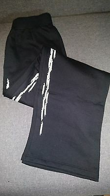 Authentic Chrome Hearts Black 3 Swords Relax Baggy Elastic Waist with Pocket