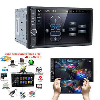 """7"""" Android 7.1 1080P 2Din Car Stereo Radio GPS Navigation 4G WIFI LTE AM/FM DVR"""