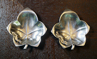 (2) Sterling Silver Tiffany Co. Leaf Dishes  3-1/4 X 3 Inches (70 Grams)