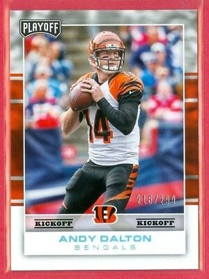 2017 PLAYOFF (FB) Andy Dalton SP KICKOFF PARALLEL Card (#19) #d 216/299 BENGALS