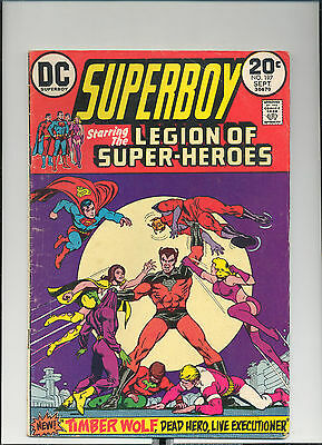 Superboy #197 & The Legion of S.H. (Sept. 1973, DC), Timber Wolf, [4.5 VG+]