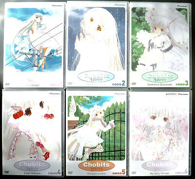 2 Box Sets Chobits Anime Series Vol. 1-6, 24 Episodes on 6 DVDs