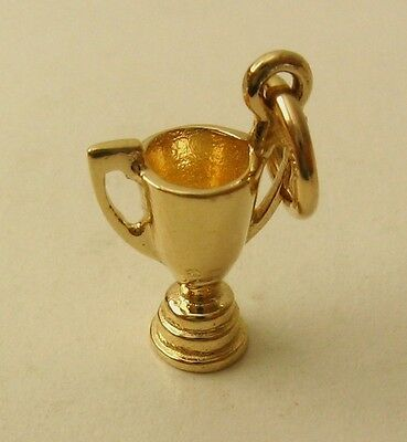 GENUINE SOLID 9K 9ct YELLOW GOLD 3D WINNER CUP TROPHY CELEBRATION CHARM/PENDANT