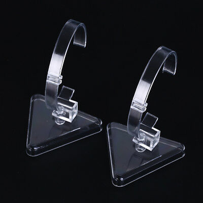 1pc clear plastic wrist watch display rack holder sale show case stand toolsFE