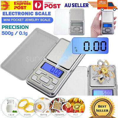 LCD Electronic Pocket Mini Digital Gold Jewelry Weighing Scale 0.1g Weight 500g